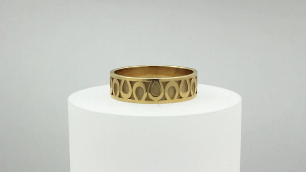 Horseshoe Wedding Band - Medium - Bennett Fine Jewelry