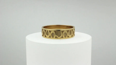 Horseshoe Wedding Band - Medium