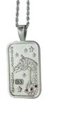 Arabian and Half-Arabian Horse National Champion Tag Pendant Pave by Lesley Rand Bennett