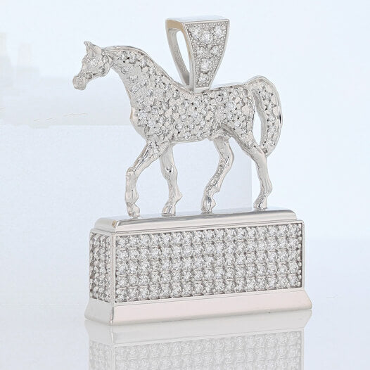 Pave Darley Award replica pendant in white gold