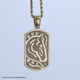 14k yellow gold International Horse pendant by Lesley Rand Bennett