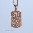 14k Rose gold International Horse pendant by Lesley Rand Bennett