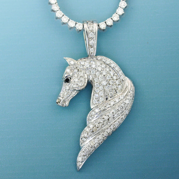 Diamond Arabian Horse Head Pendant - Bennett Fine Jewelry