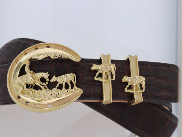 18k Cutting Horse Buckle-Eye to Eye