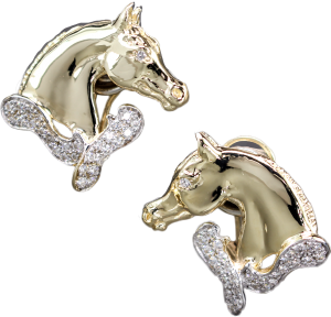 Horse Head Earrings 661 - Bennett Fine Jewelry