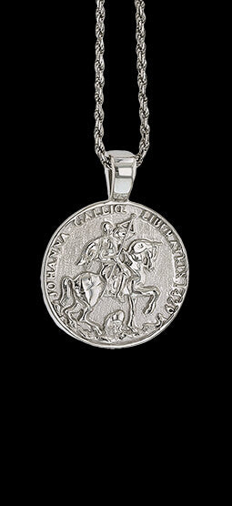 14k Joan of Arc Medallion 1555 Pendant - Bennett Fine Jewelry