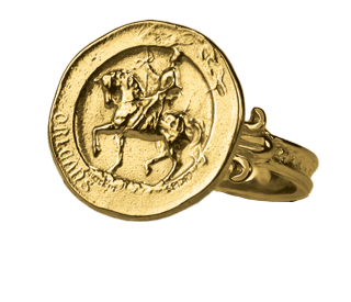 Joan of Arc Border Ring