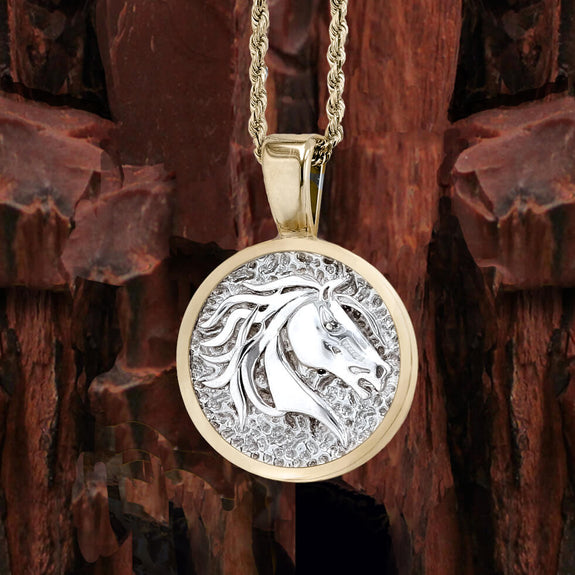 Save The Wild Horses Mustang Pendant