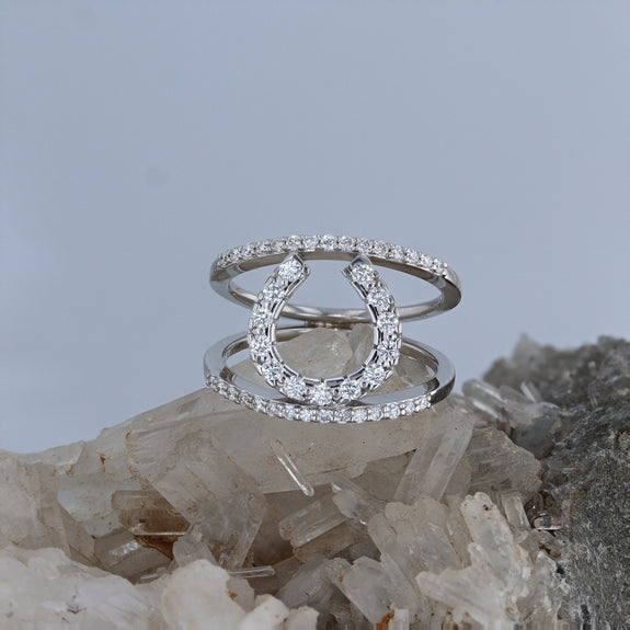 Simple Elegance Diamond Horseshoe Ring