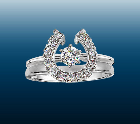 Two Become One Equestrian Wedding Rings...