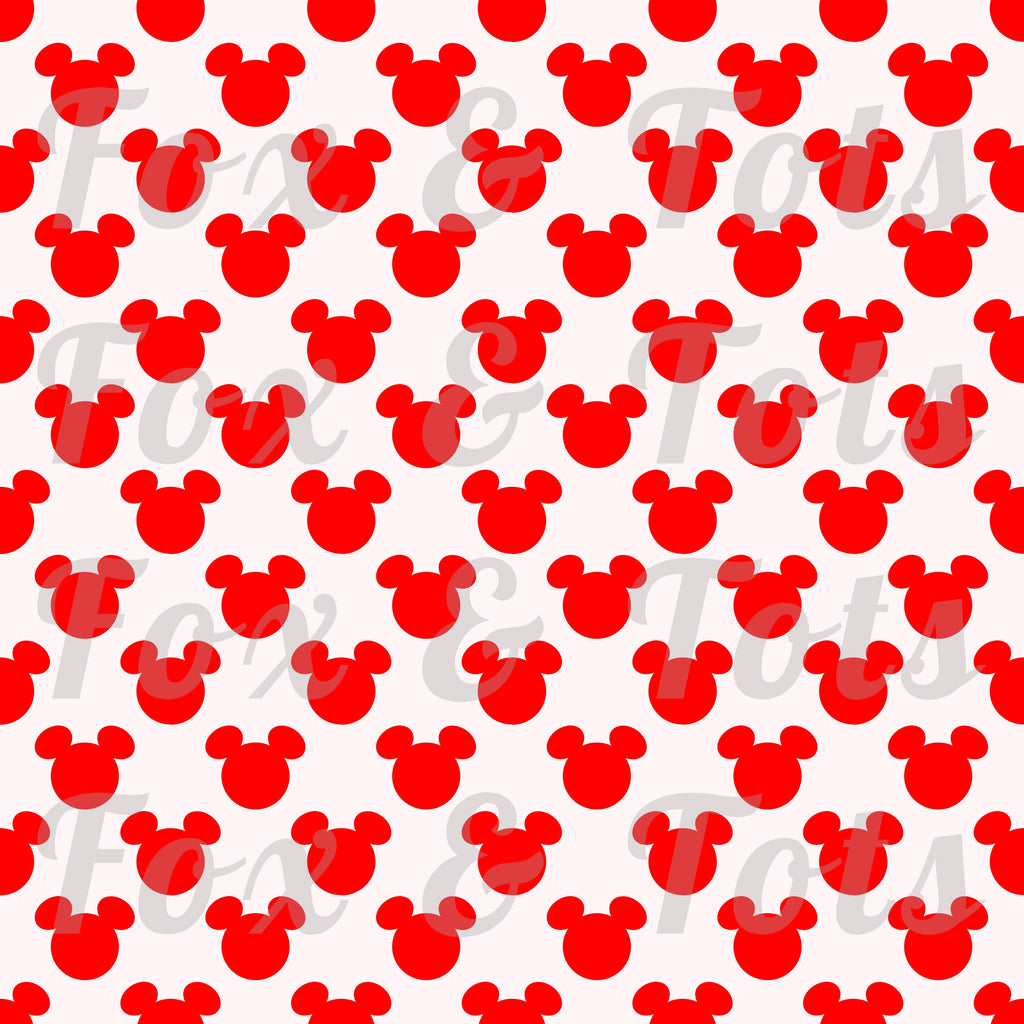 Red Mickey Fabric