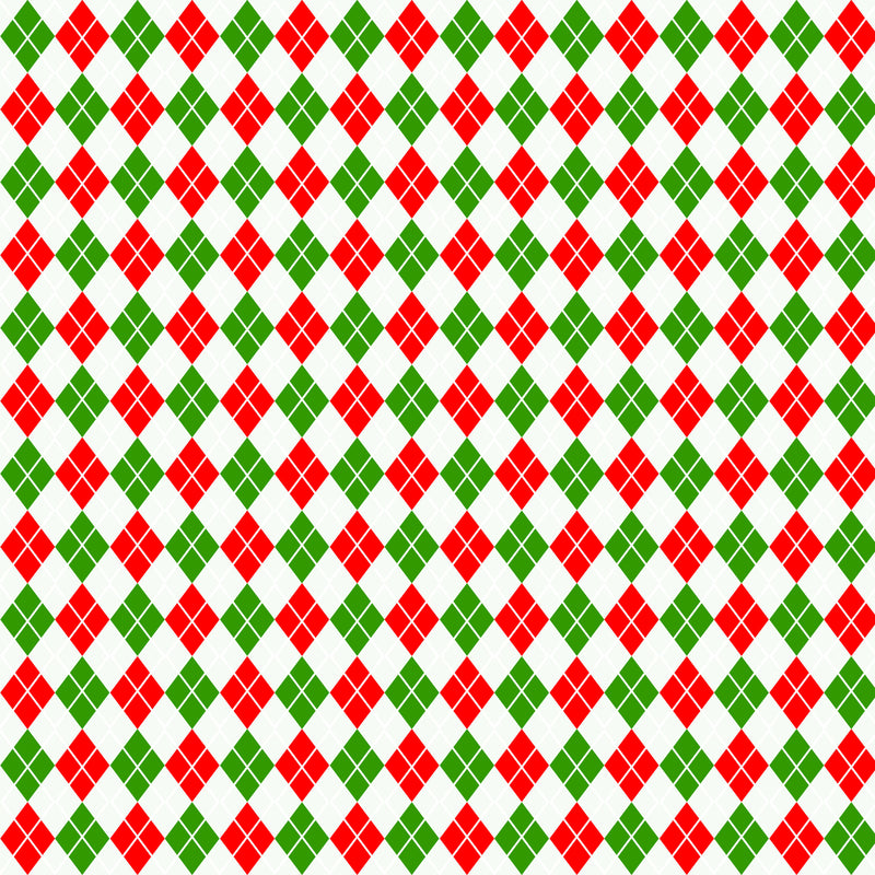 Red and Green Plaid Fabric