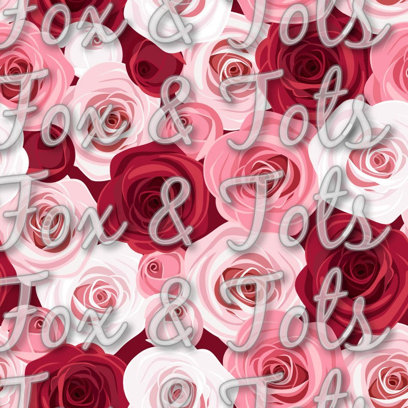 Valentine's Day Roses Fabric