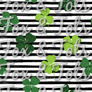 Saint Patrick's Day Party Stripes Fabric