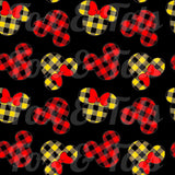 Plaid Minnie Fabric