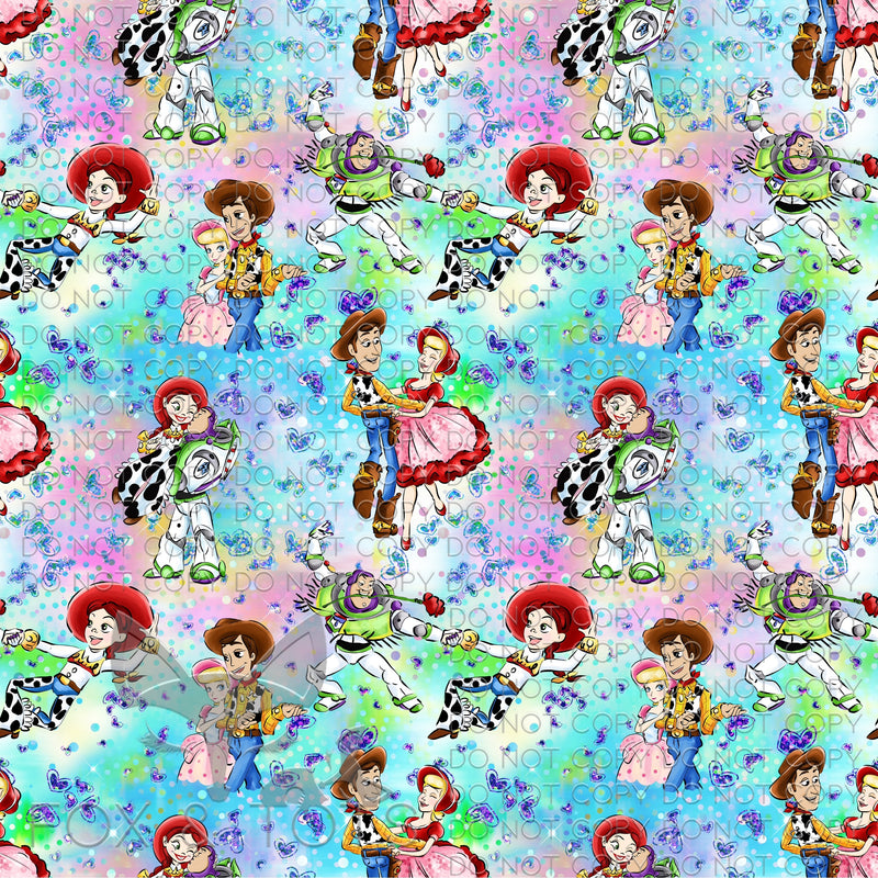 Scattered Toy Couples Fabric