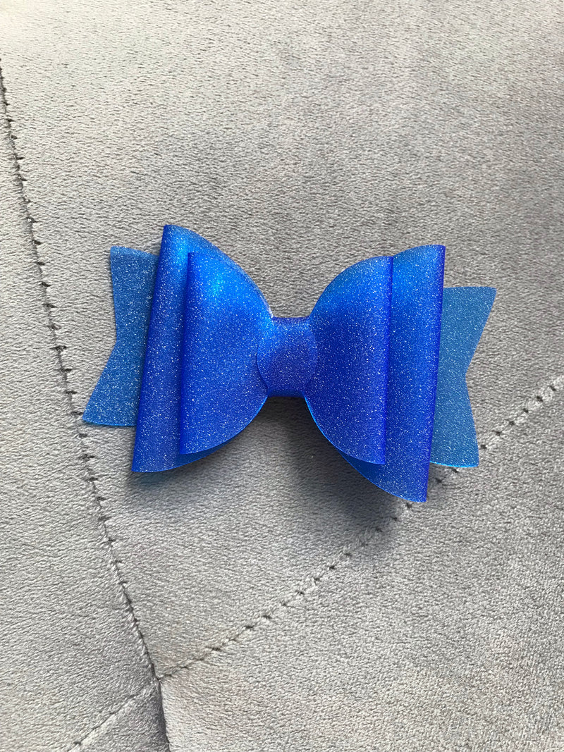 Small Blue Shimmer Pool Bow