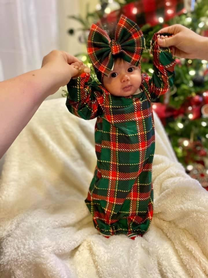 RTS Very Plaid Baby Gown 10.6