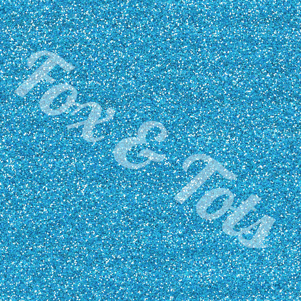Turquoise Glitter Fabric