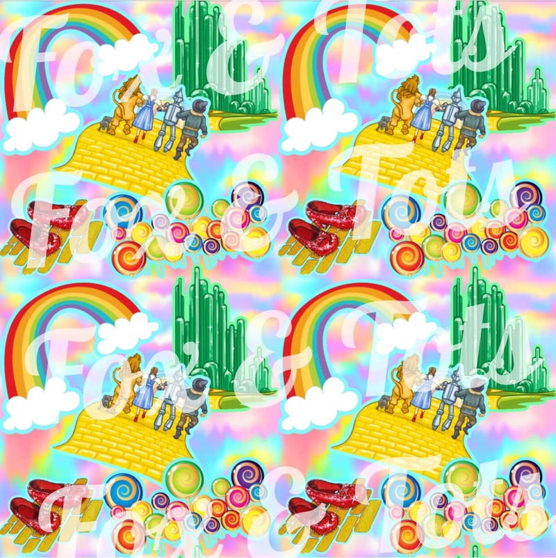 Rainbow Wizard Fabric