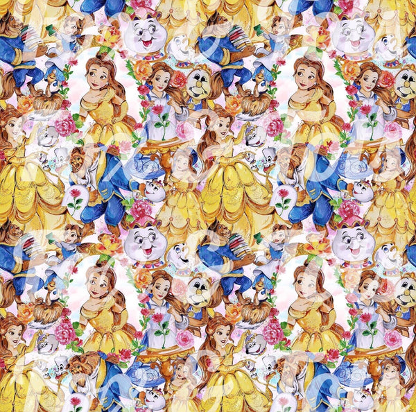 Beauty and the Beast 2 SMALL SCALE Fabric