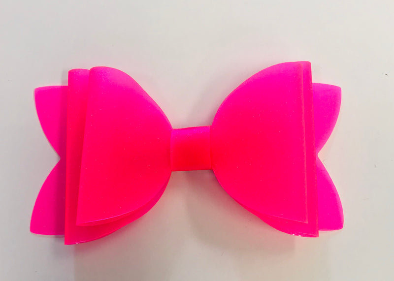 Large Neon Pink Pool Bow