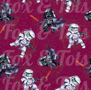 Dark Side Sparkle SMALL SCALE Fabric