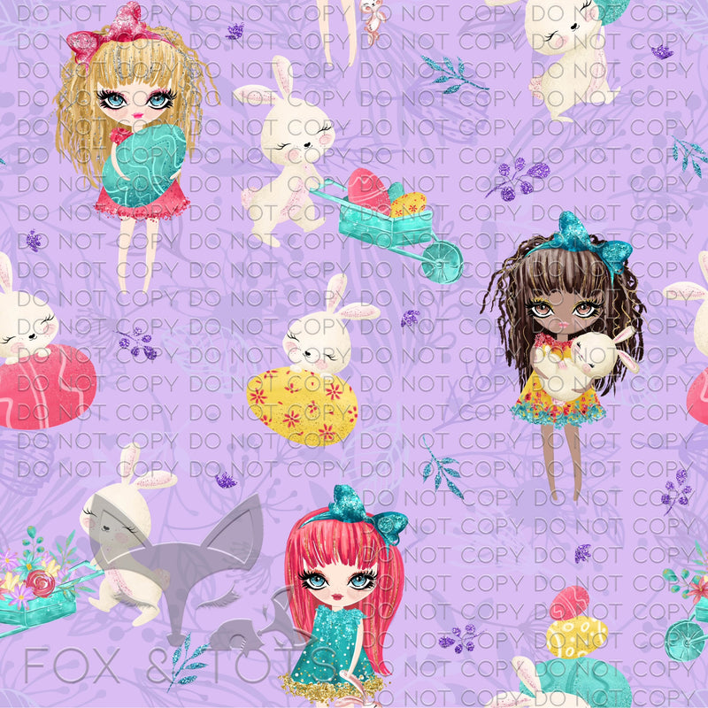 All The Bunny Girls Fabric