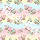 Golden Butterflies Fabric