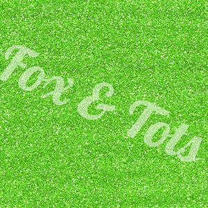 Lime Glitter Fabric