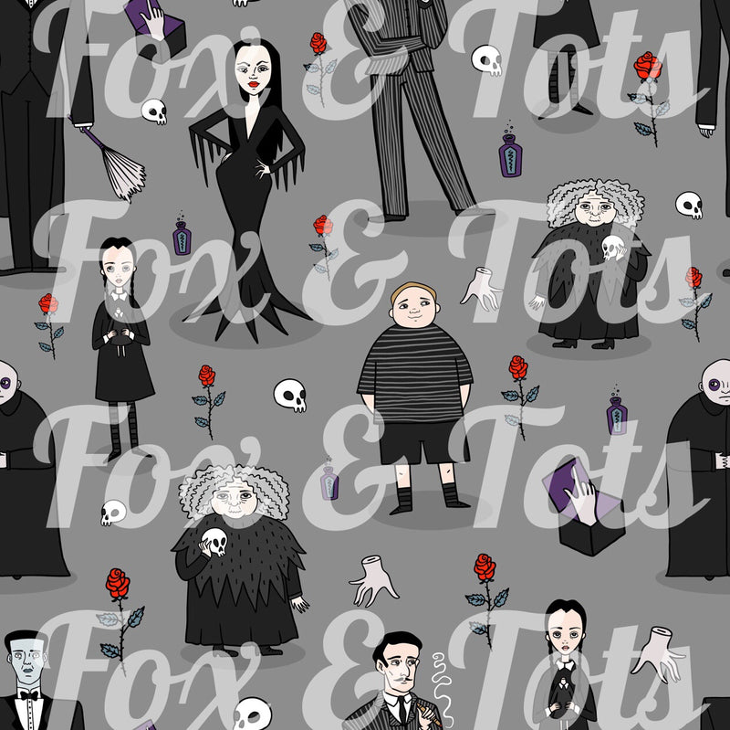 NEW Addams Family Fabric