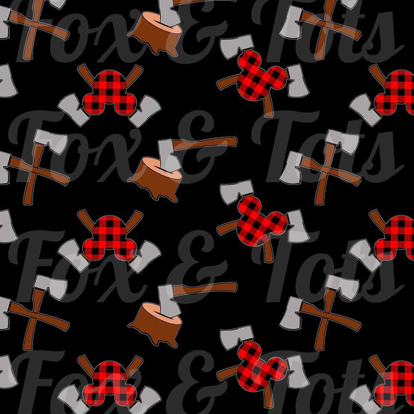 Plaid Mickey Fabric