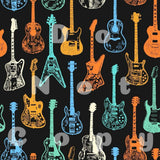 Neon Guitars Fabric