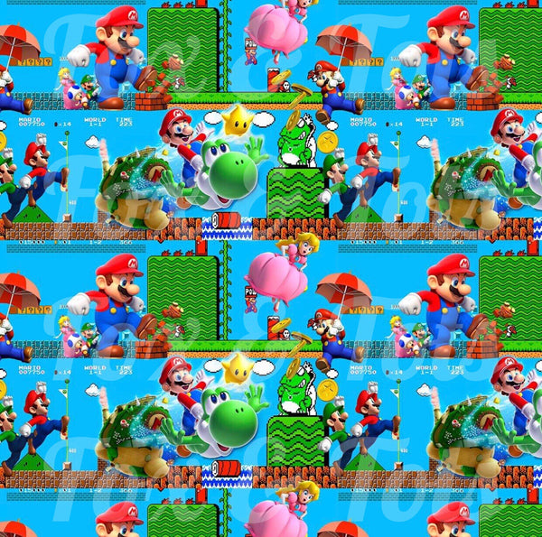 Mario Bros SMALL SCALE Fabric