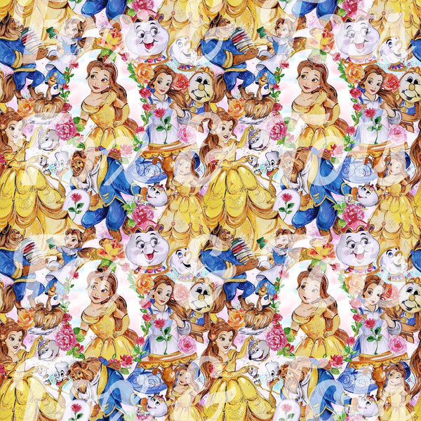 Beauty and the Beast 2 Fabric