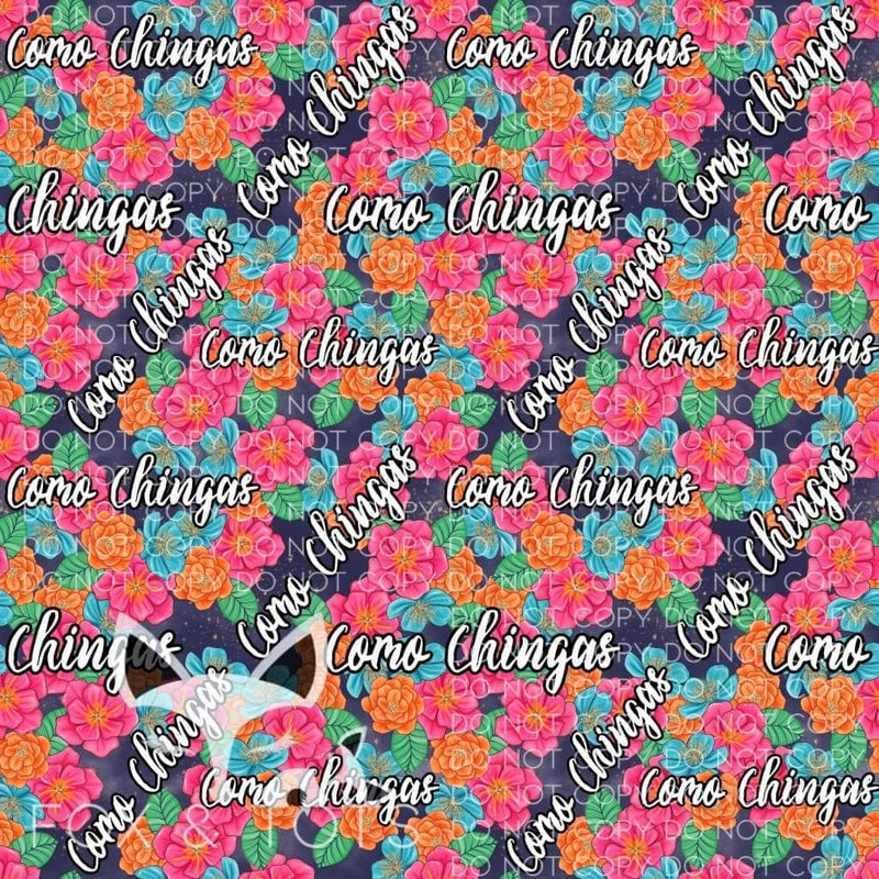 Como Chingas SMALL SCALE Fabric