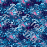 Blueberry Galaxy Watercolor Fabric