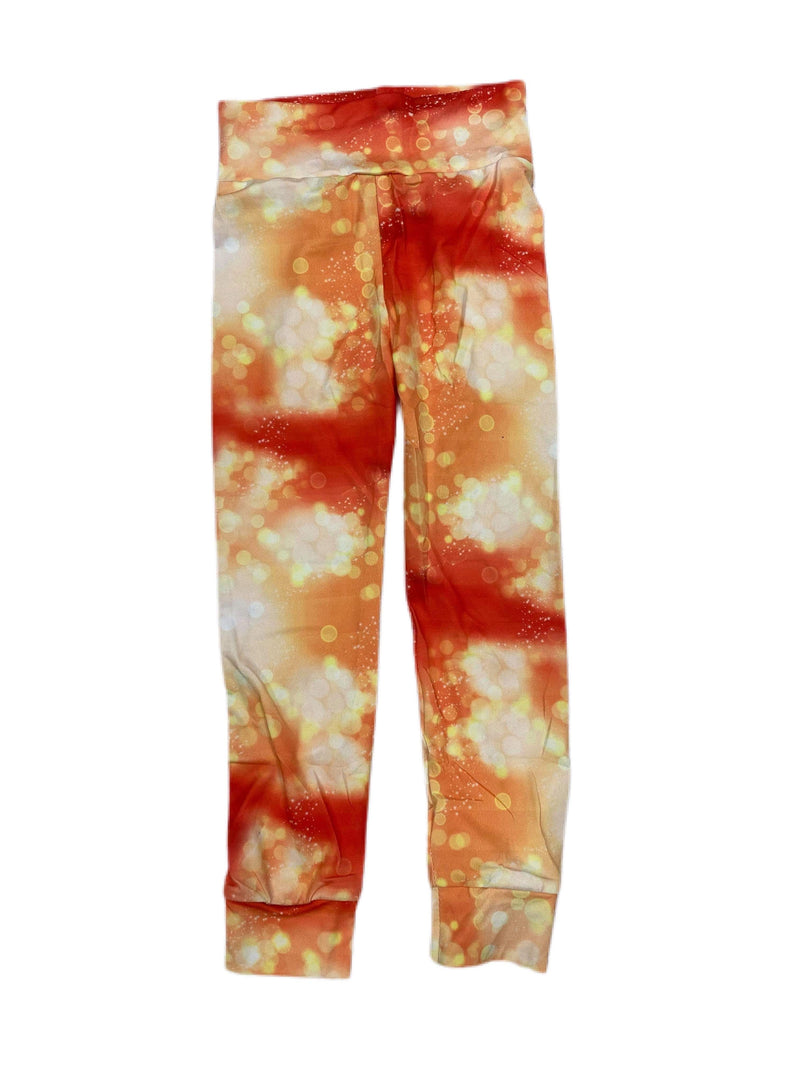 RTS ORANGE SPARKLE-KIDS LEGGINGS 7.17