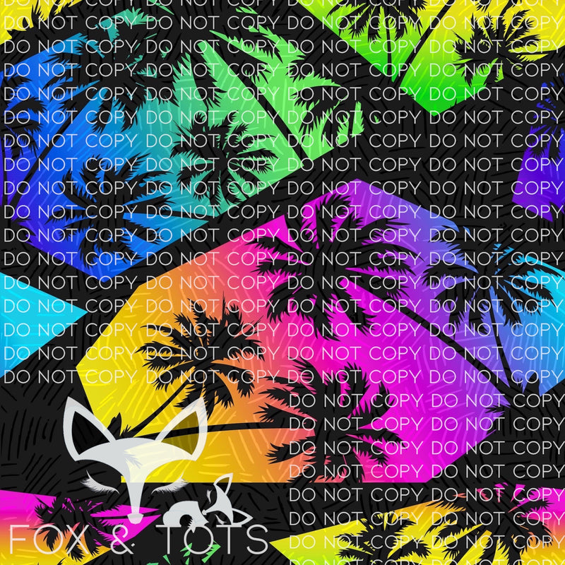 Neon Tropical Fabric