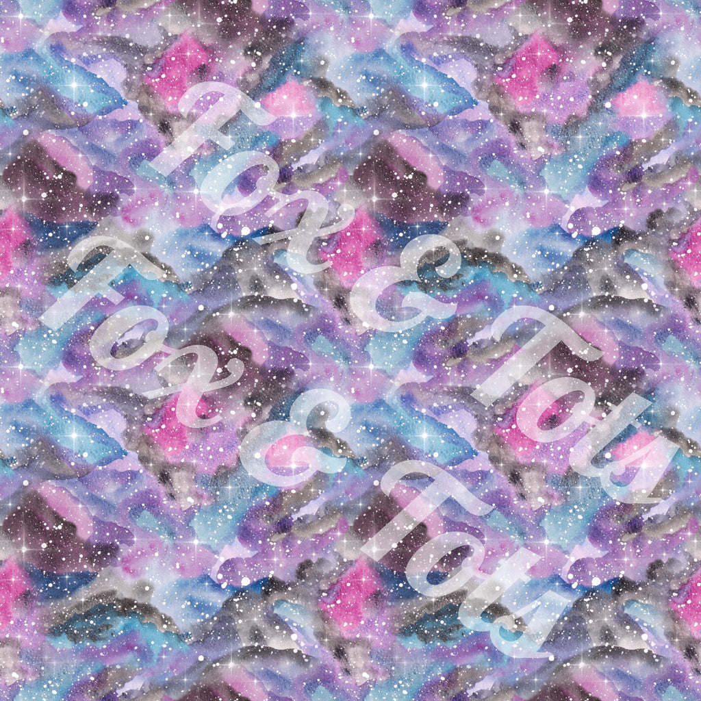 Prince Purple Galaxy Watercolor Fabric