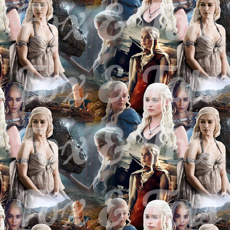Mother of Dragons SMALL SCALE Fabric