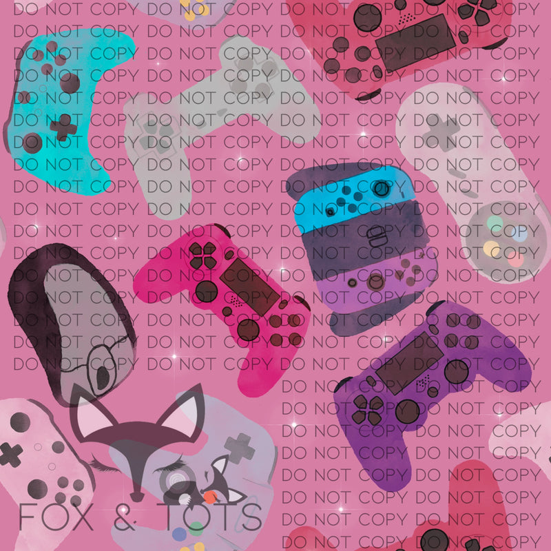 Girl Gamer Fabric