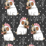 Lightening Pug Fabric