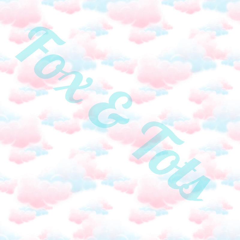 Pastel Clouds Fabric