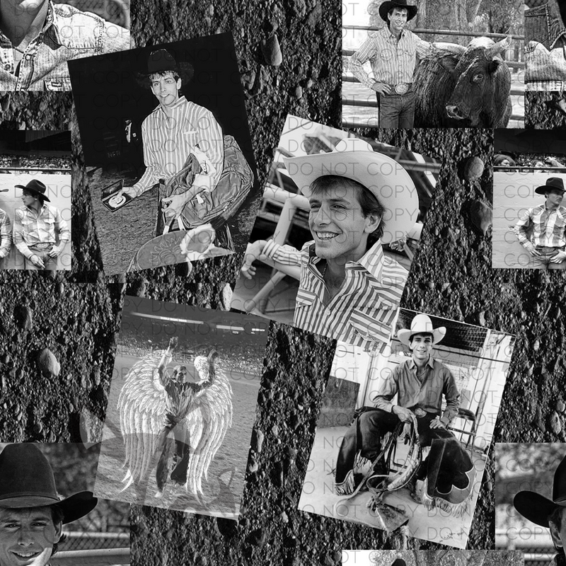 Black and White Lane Frost Fabric