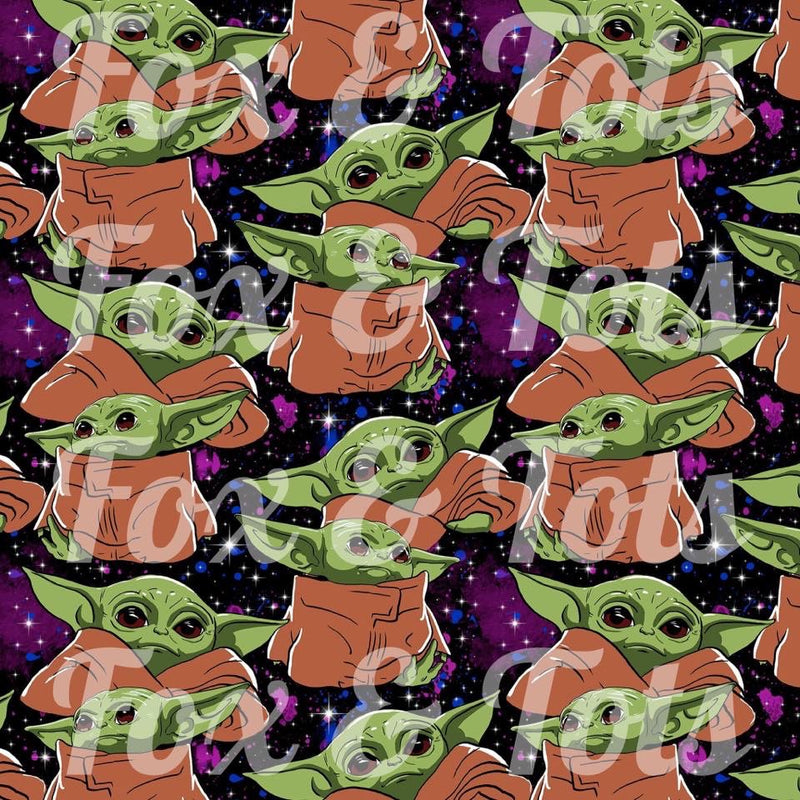Green Alien Fabric