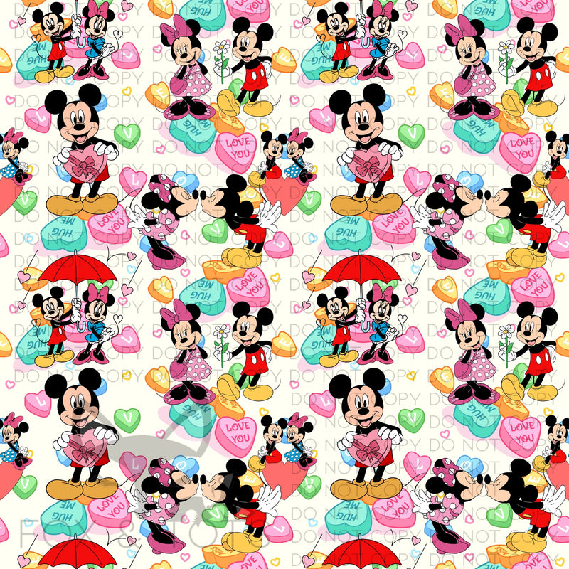 VDAY CONVO MAGIC MICE Fabric