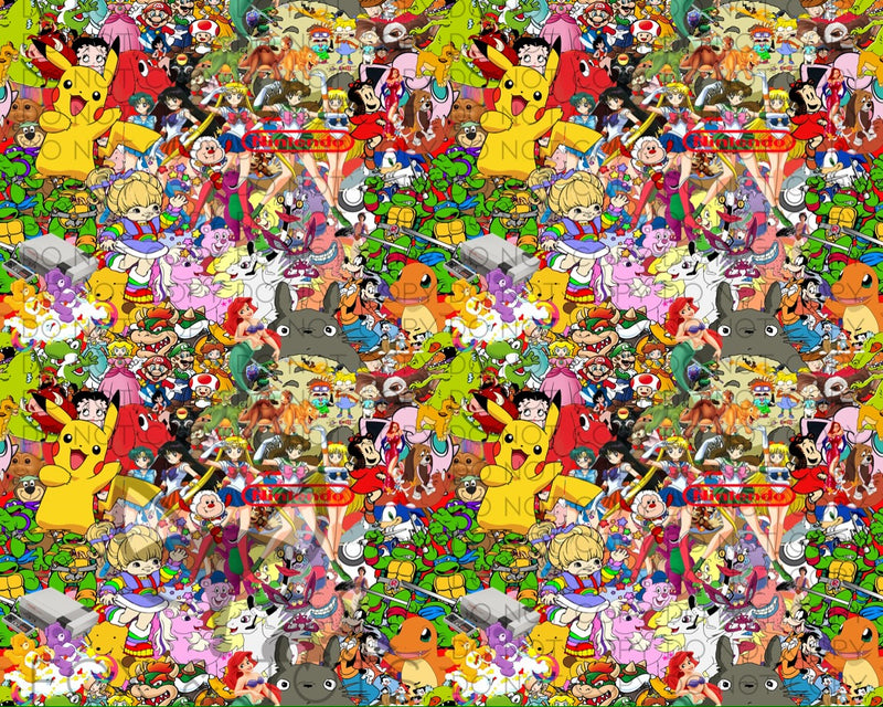 Old School Toons Fabric