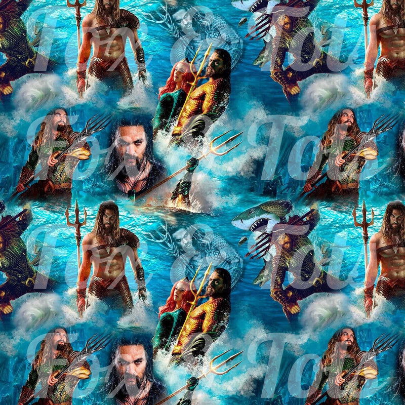 Aquaman SMALL SCALE Fabric