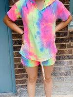 Tie Dye Lounge Short Sets- RTS